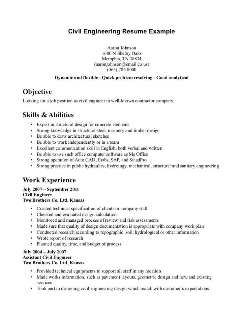 sample cover letter for job application for civil engineering freshers