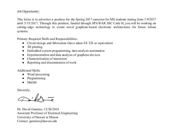cover letter for job opportunity