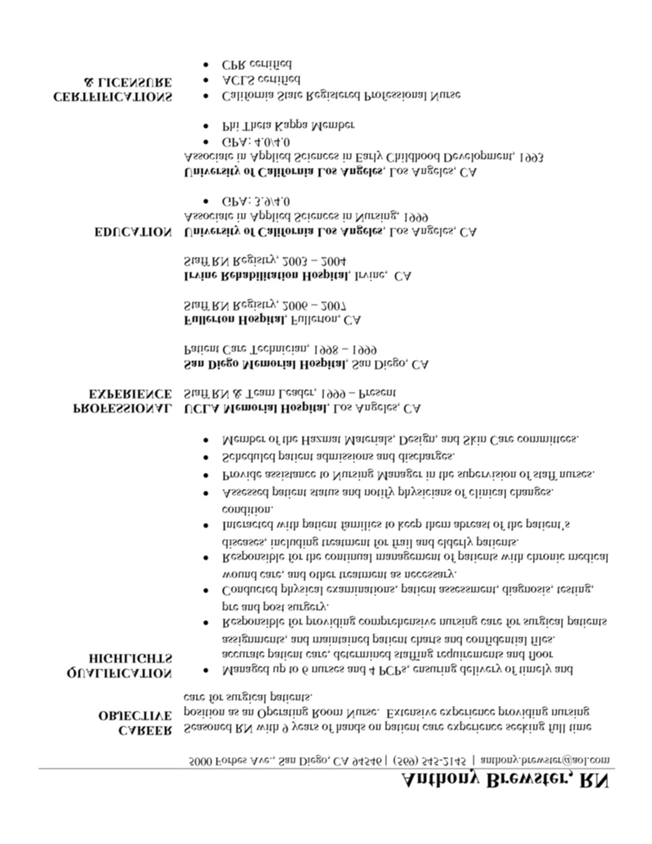 rn new grad resume
