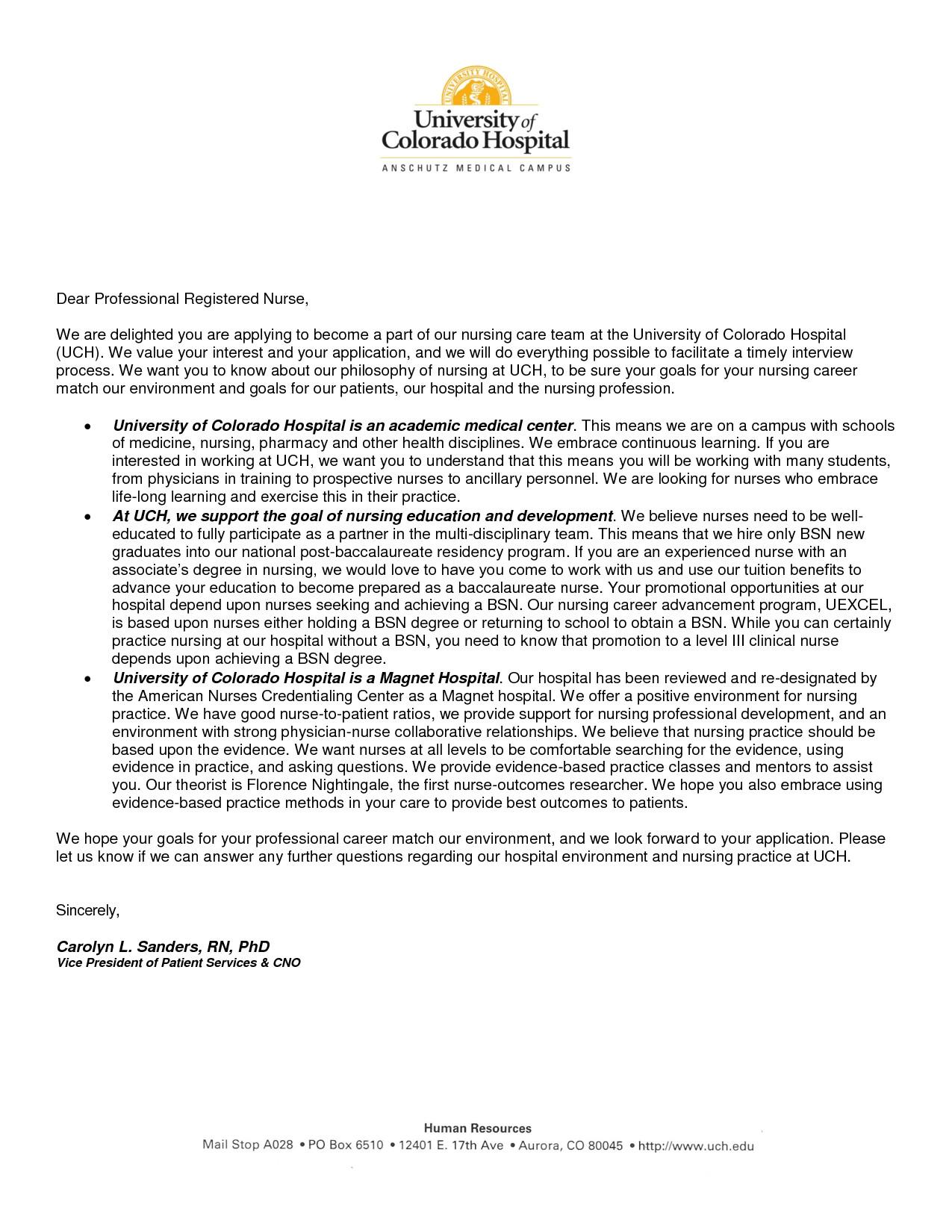 sample cover letter for nurses in australia
