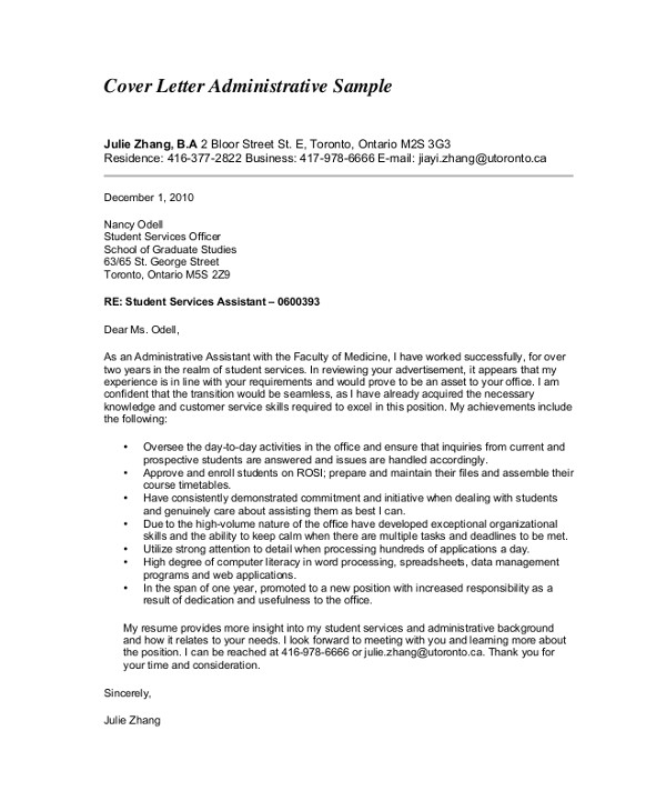 professional cover letters