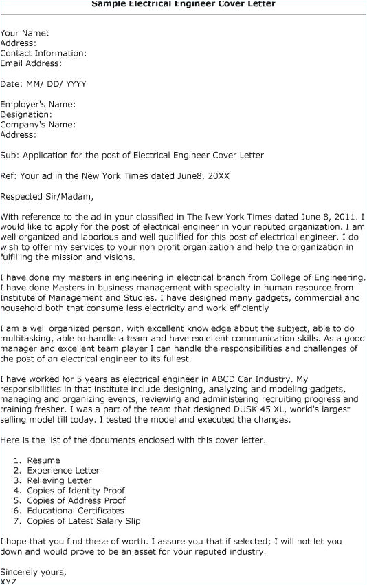 cover letter for fresher electronics engineer
