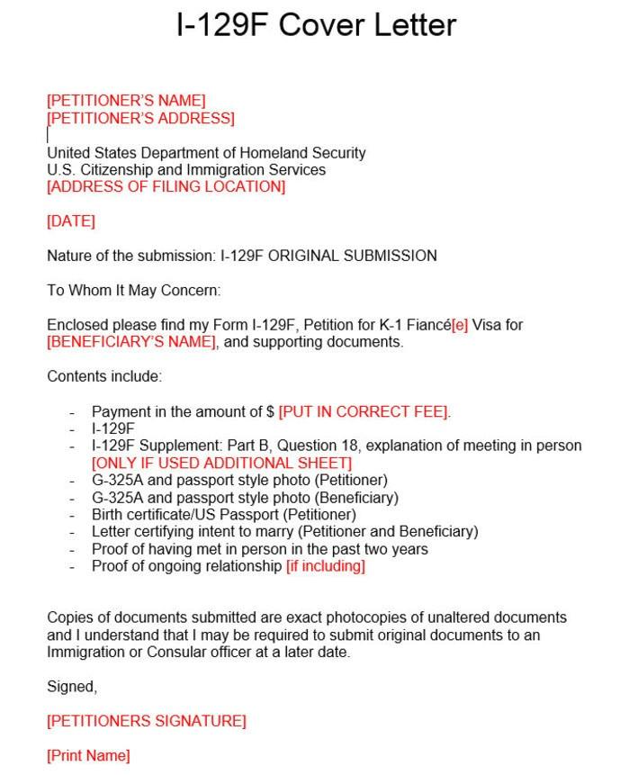 k1 visa cover letter i 129f cover letter i 129f cover letter k 1 fiance e visa process k1 visa cover letter example