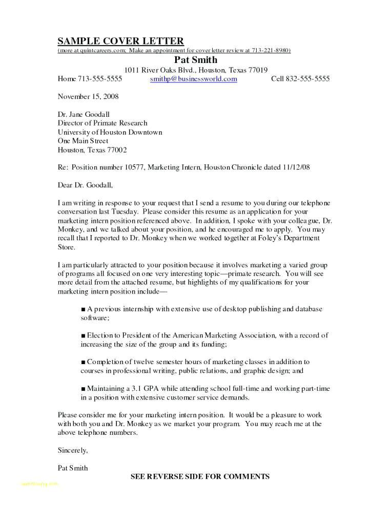 Cover Letter for Internship In Information Technology Sample Cover Letter for Internship In Information