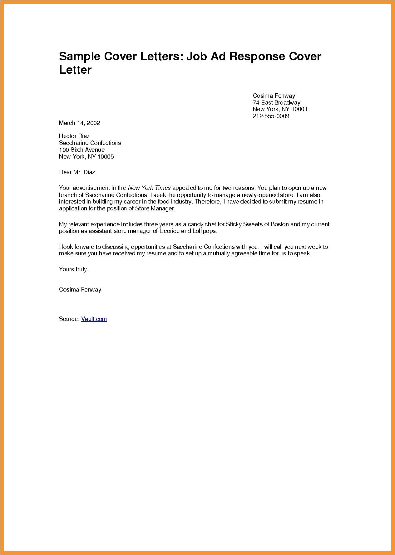 cover letter for job application pdf