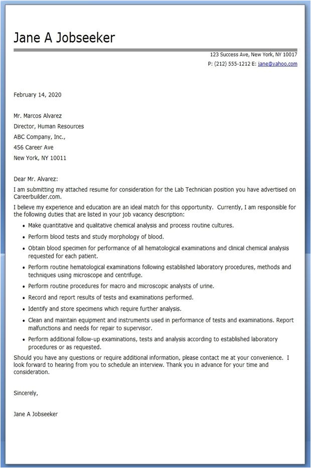 cover letter for lab assistant with no experience