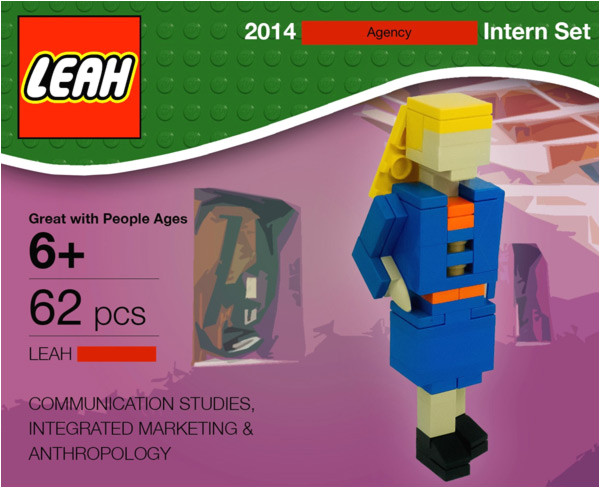 intern lego land a job advertising