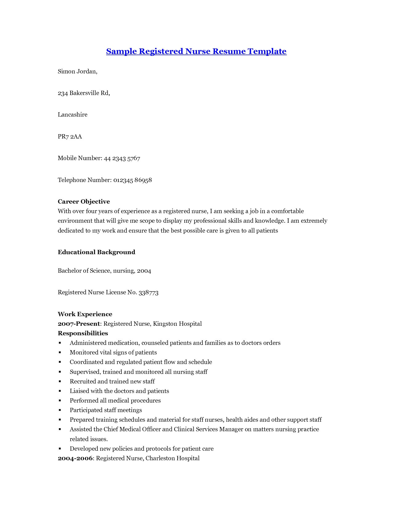 Cover Letter for Lpn with No Experience Lpn Resume with No Experience Sample Resume Registered