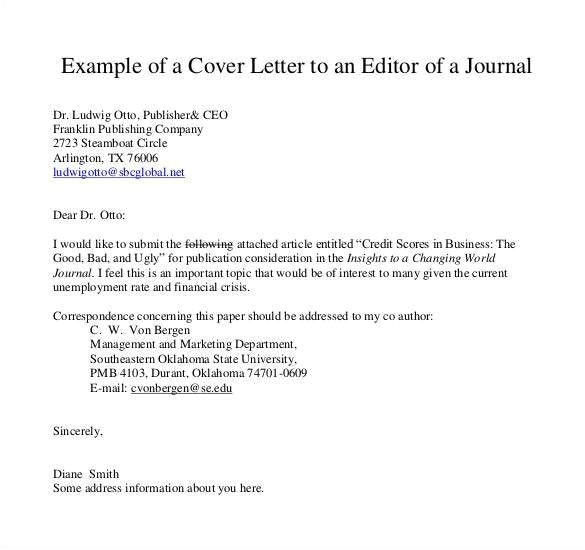 sample cover letter for journal article submission