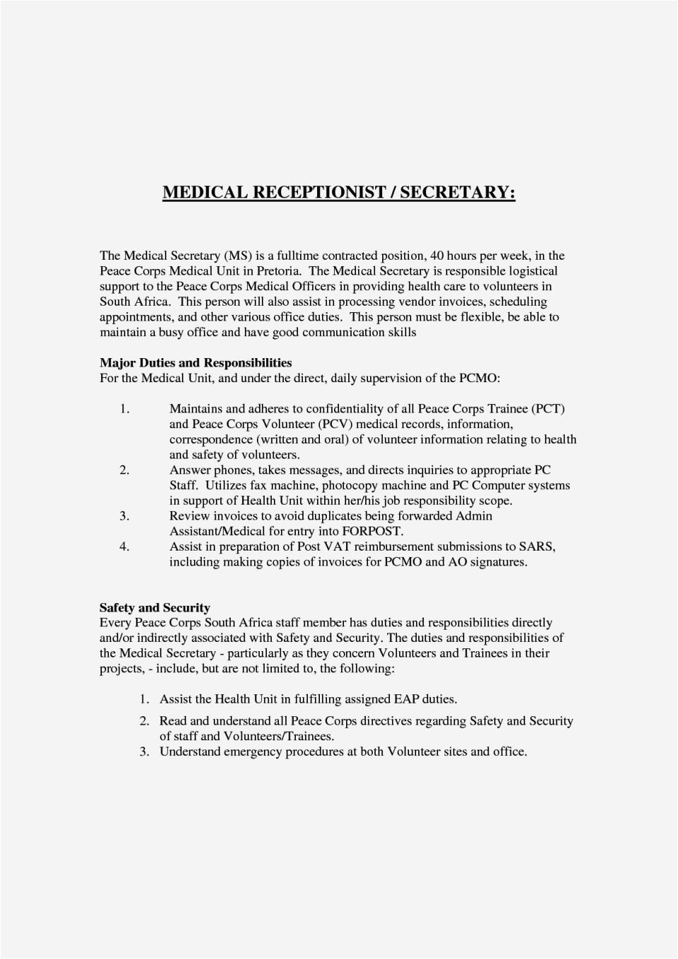 cover letter for receptionist position with no experience