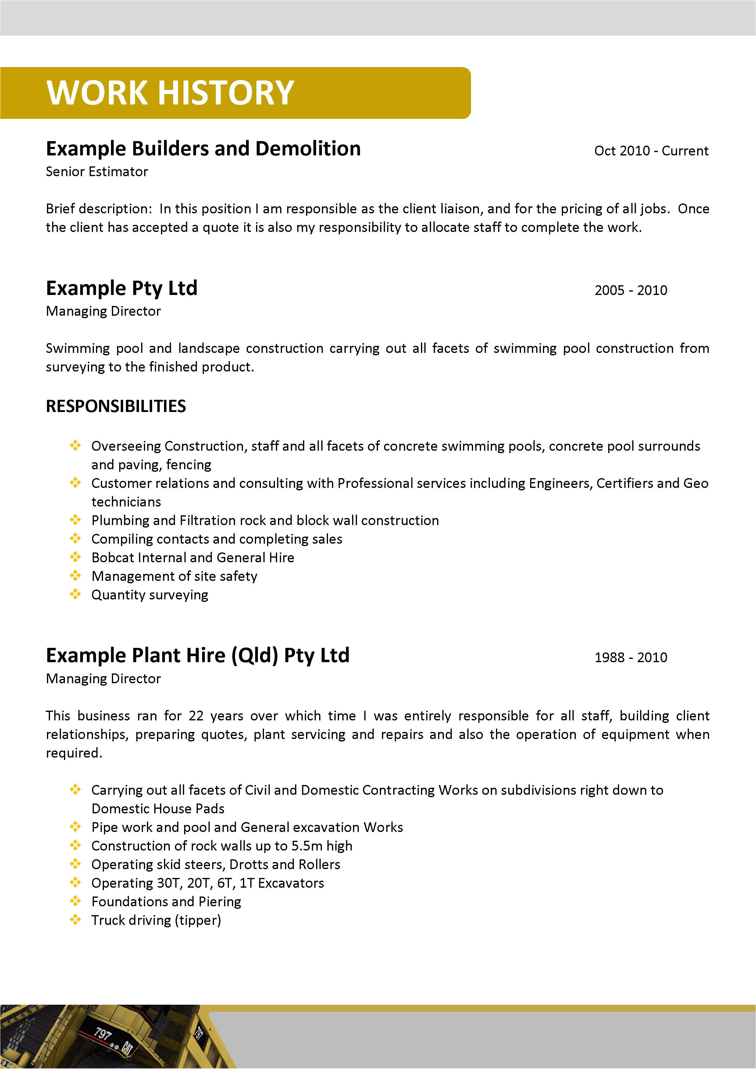 mining resume and cover letter