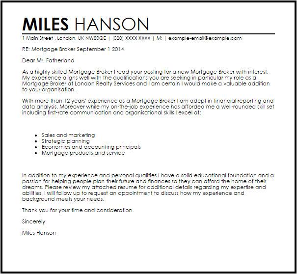 freight broker cover letter