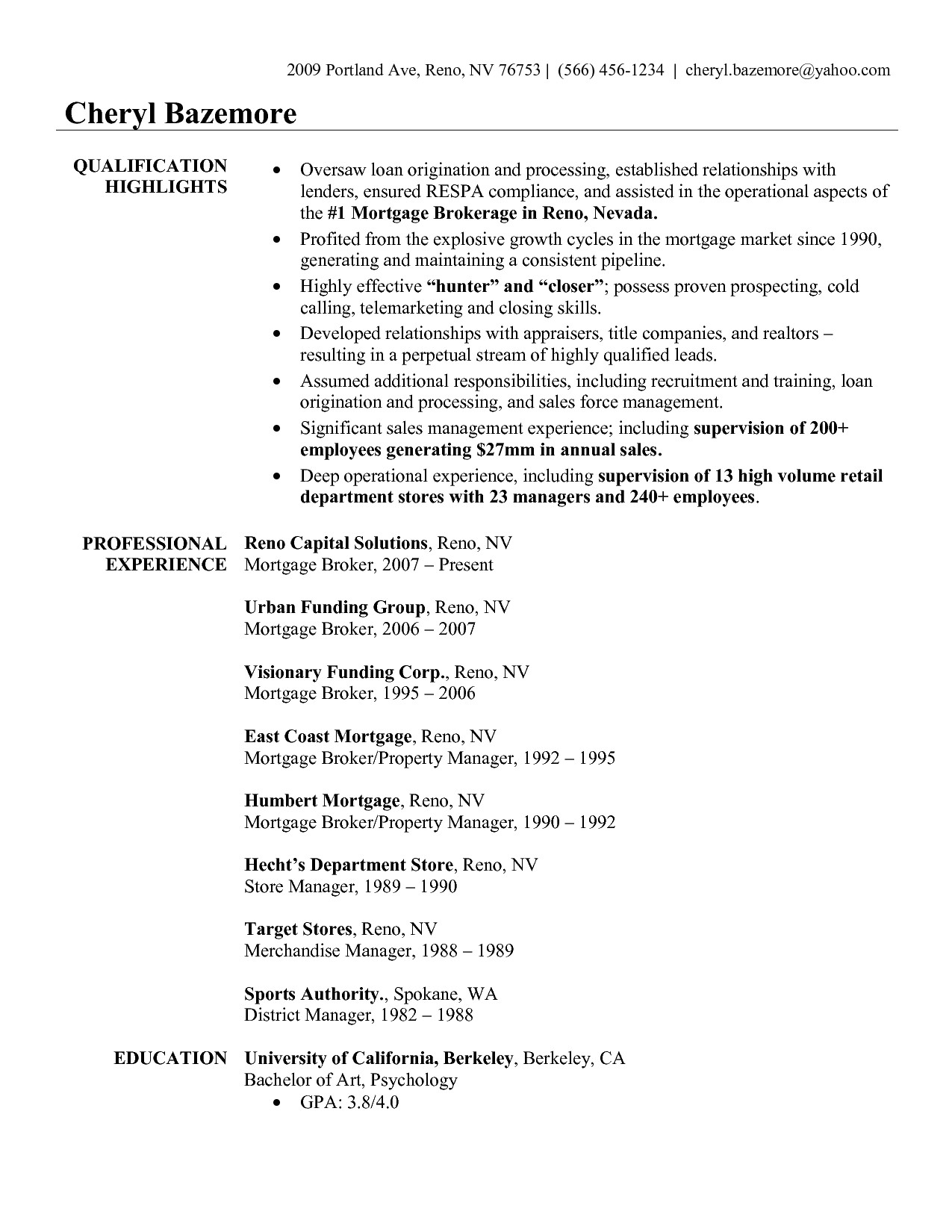 insurance broker resume sample cover letter