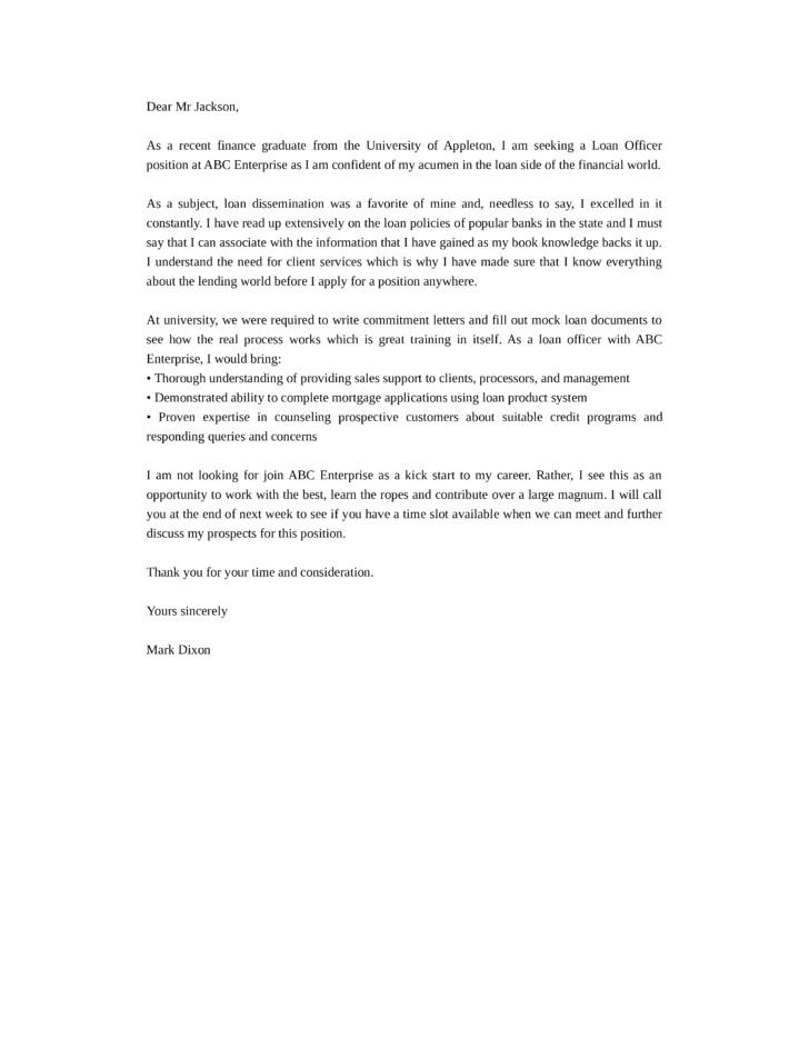 Cover Letter for Mortgage Advisor Loan Advisor Cover Letter Sarahepps Com