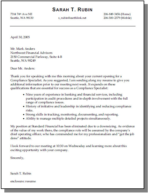 resume cover letter no job posting