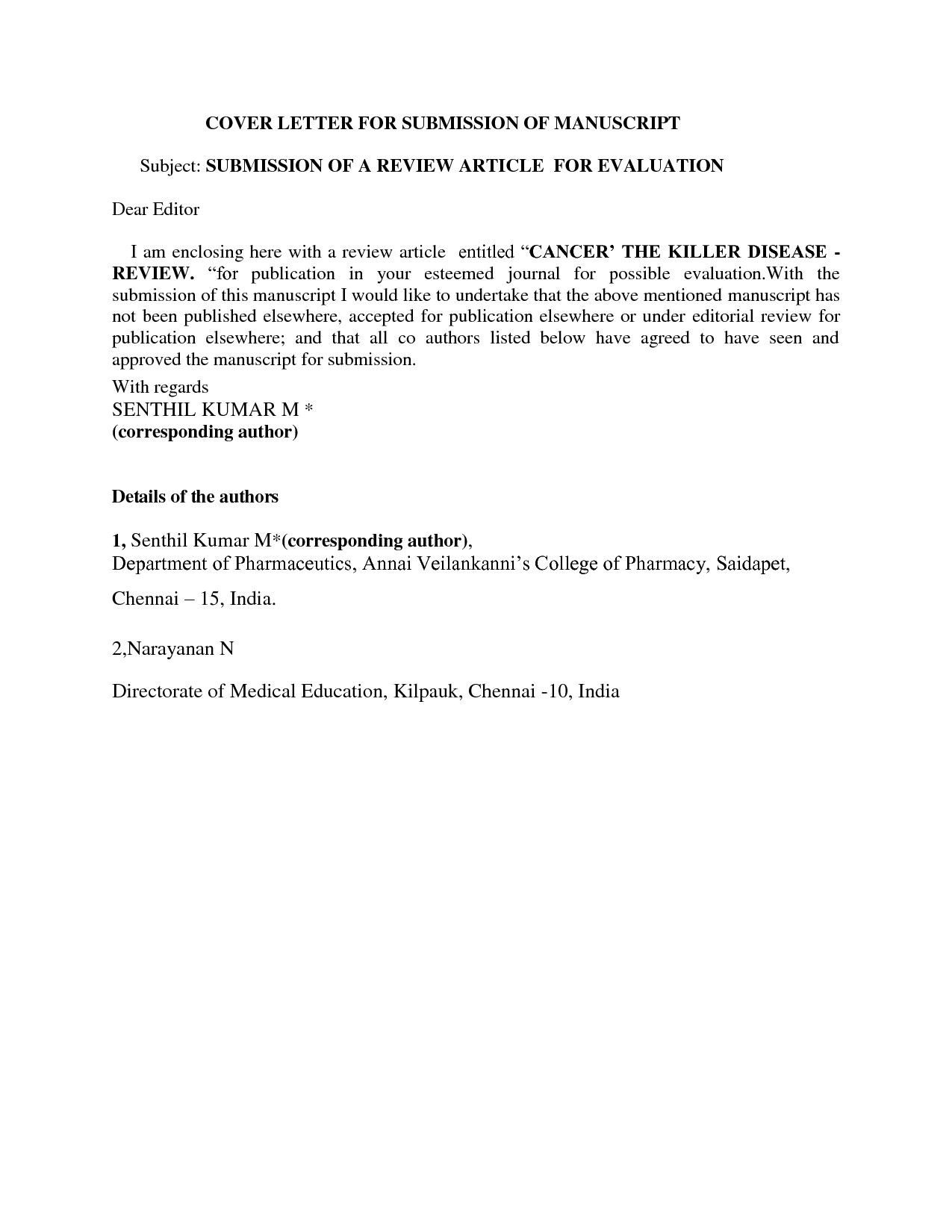 cover letter for journal submission example cover letter publication submission cover letter sample