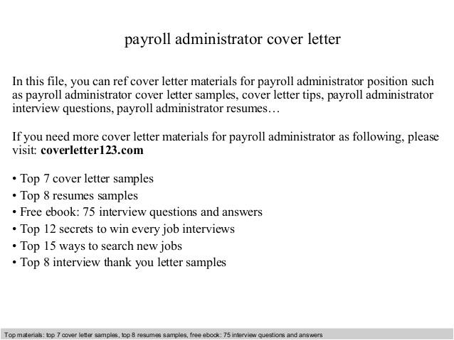 payroll administrator cover letter 39606606