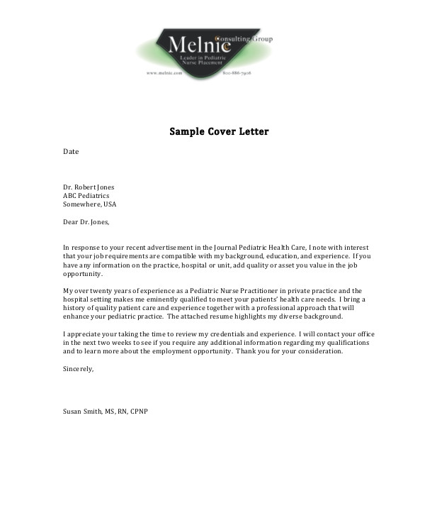 nursing cover letter examples