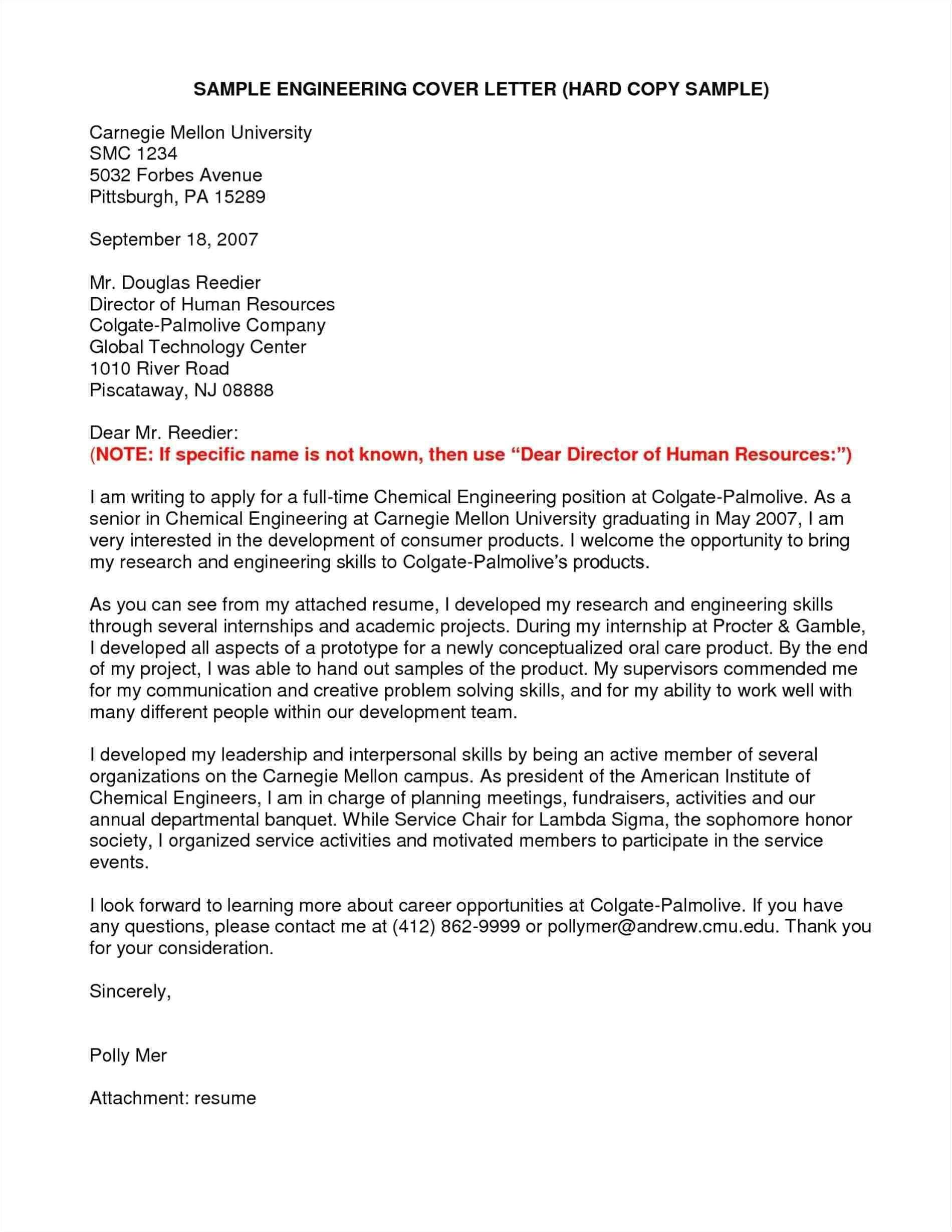 cover letter samples for engineering graduate new job application cover letter for fresh chemical engineering graduate