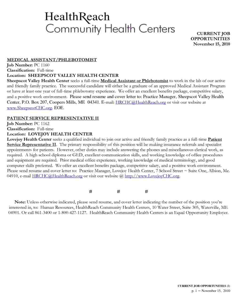 cover letter examples for phlebotomist entry level