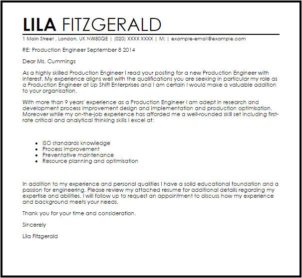 Cover Letter for Planning Engineer Projectspyral Com Collection Letter Full Resume format