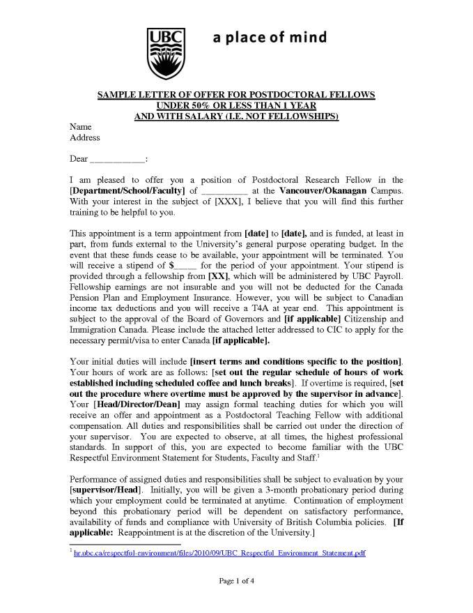 Cover Letter for Postdoctoral Fellowship Postdoc Cover Letter Resume Badak