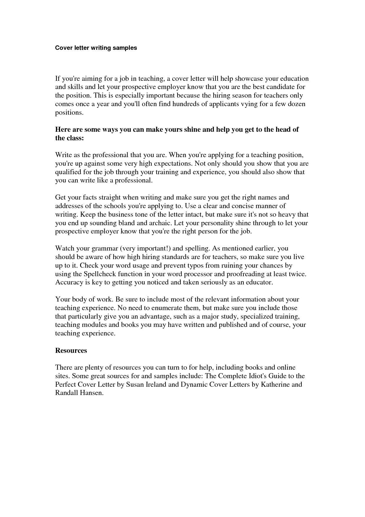 cover letter samples for resume awesome cover letter for potential job opening