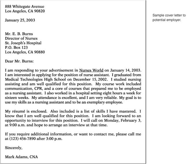 sample cover letter for job hunting