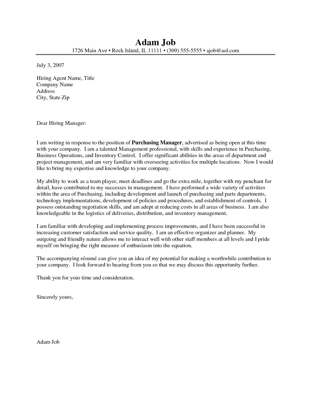 Cover Letter for Purchasing Manager Procurement Officer Resume Cover Letter Bongdaao Com