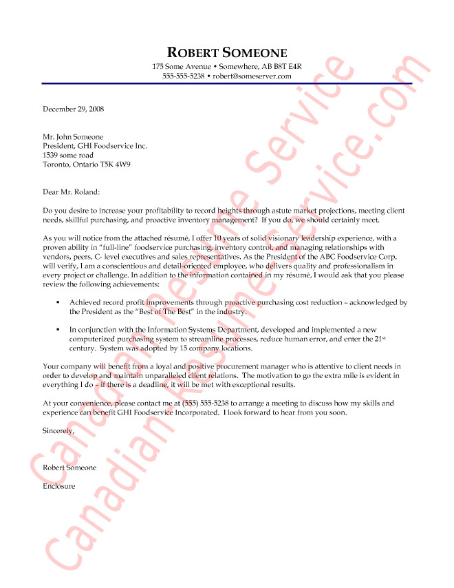 purchasing manager cover letter example