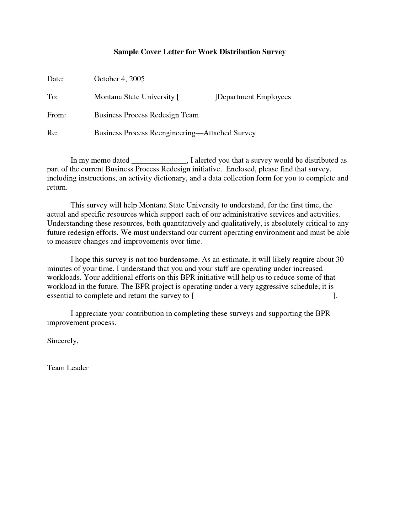 post sample survey cover letter example 812910