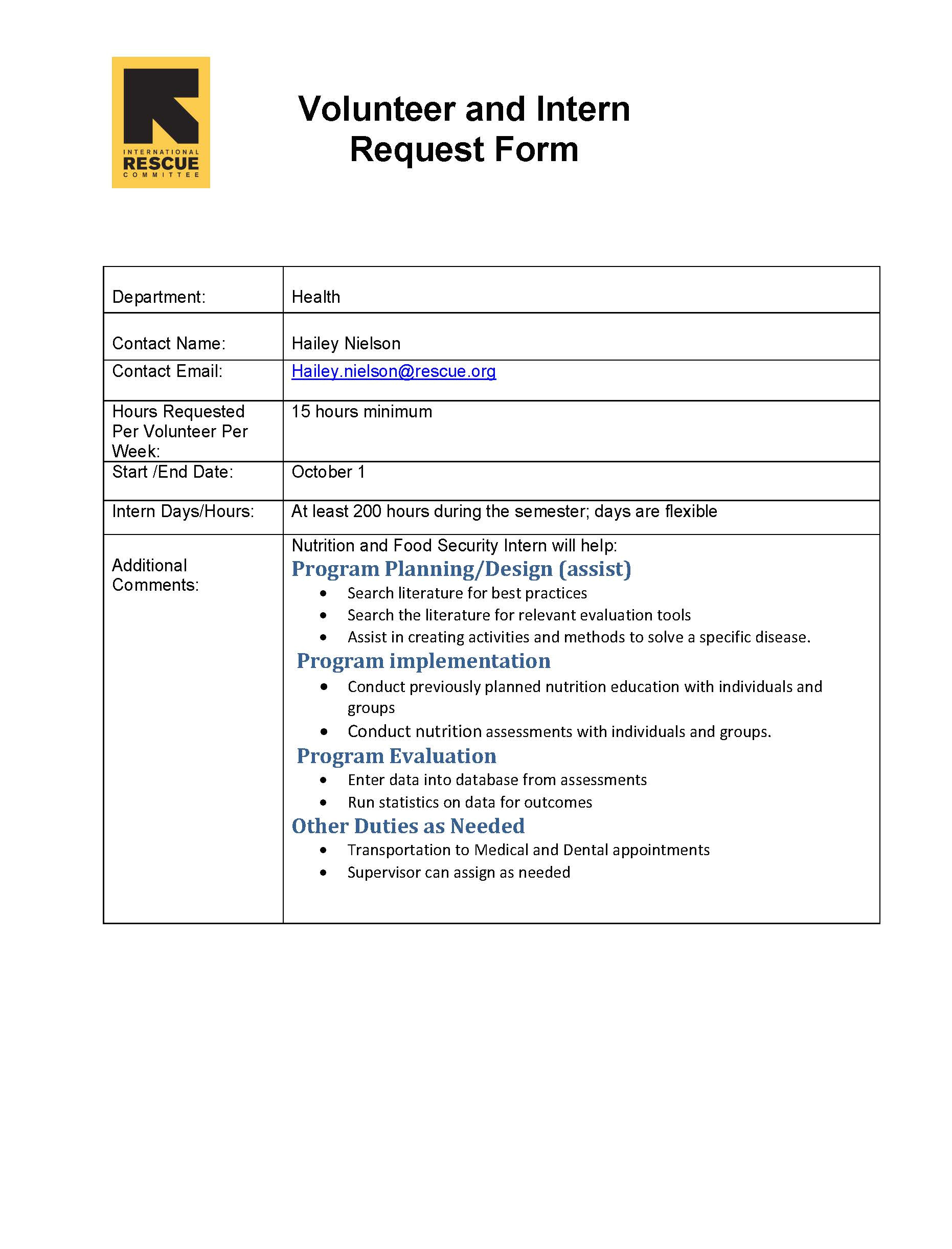 sample cover letter for internship at