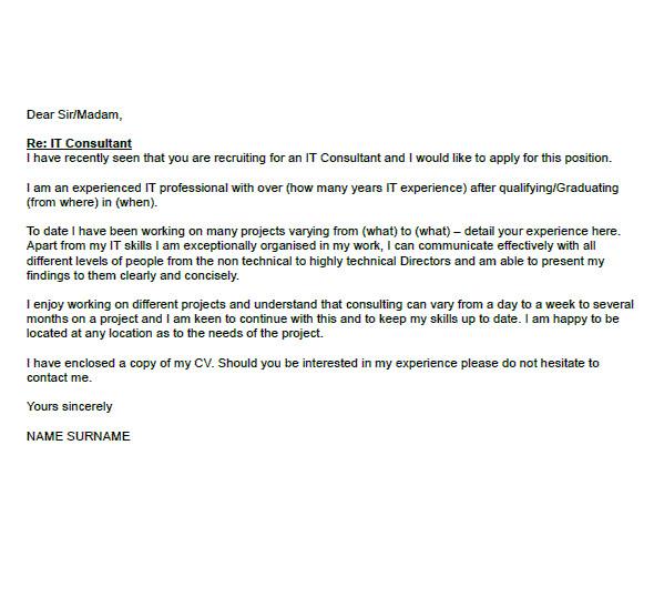 cover letter recruitment consultant