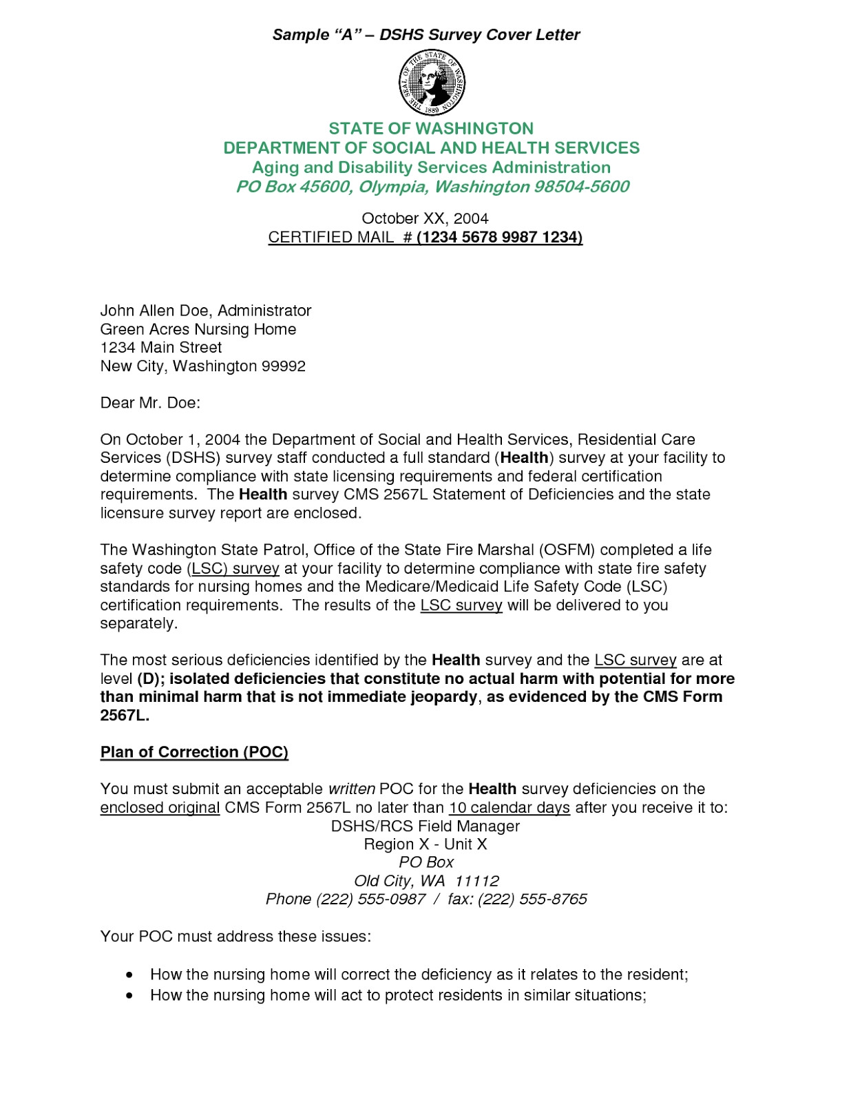 cover letter for survey questionnaire