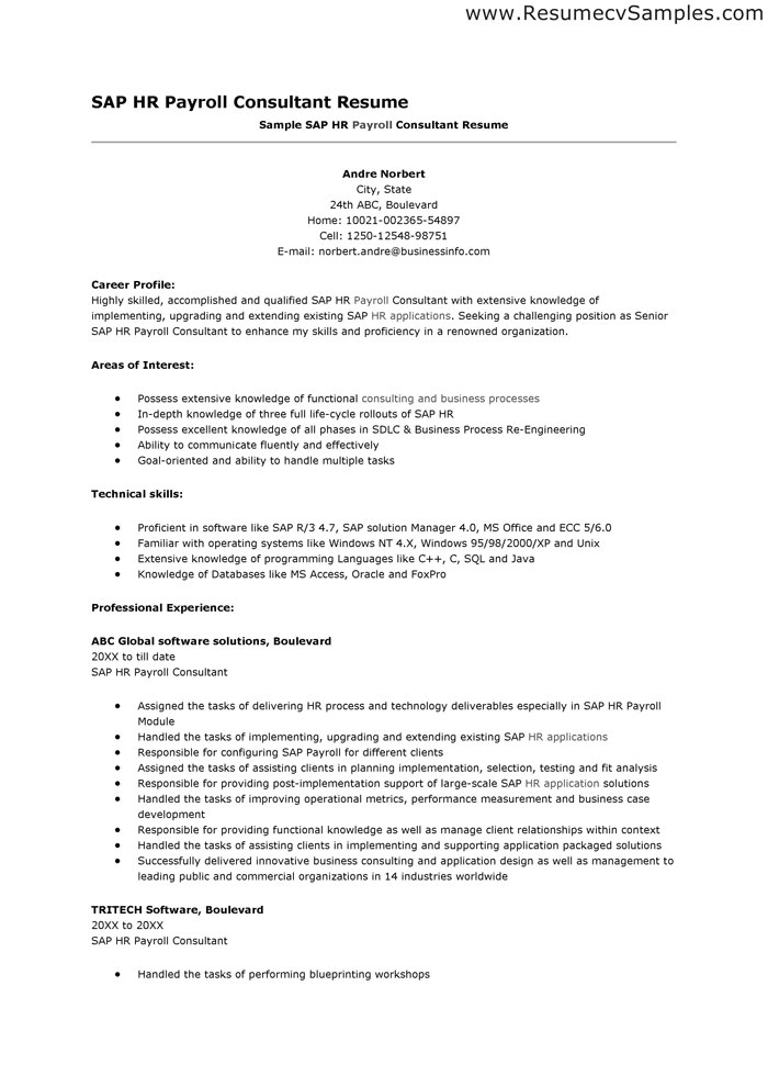 Cover Letter for Sap Abap Consultant Sap Consultant Resume Best Resume Gallery
