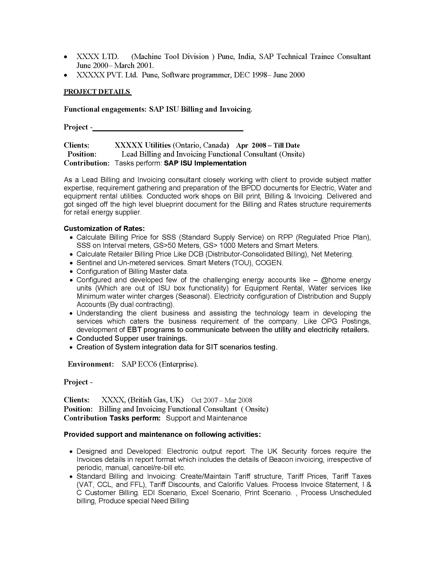 software consultant cover letter