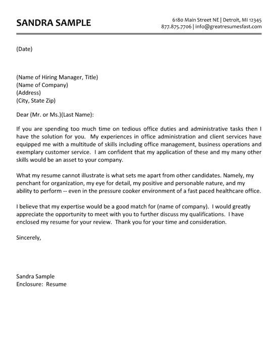 cover letter administrative assistant school