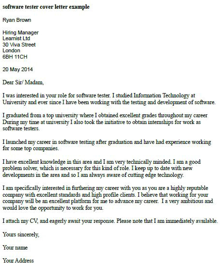 cover letter example software engineer