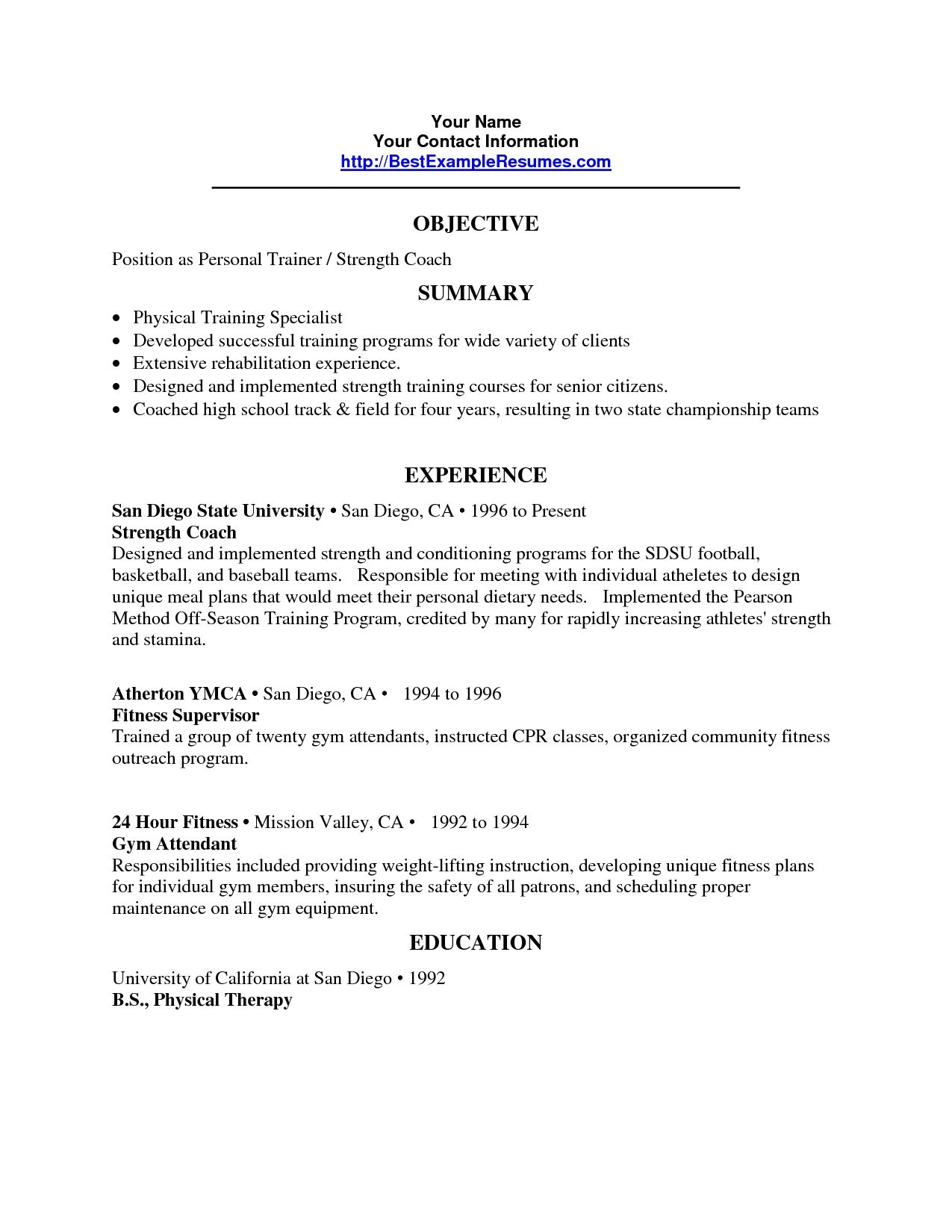 strength and conditioning coach cover letter