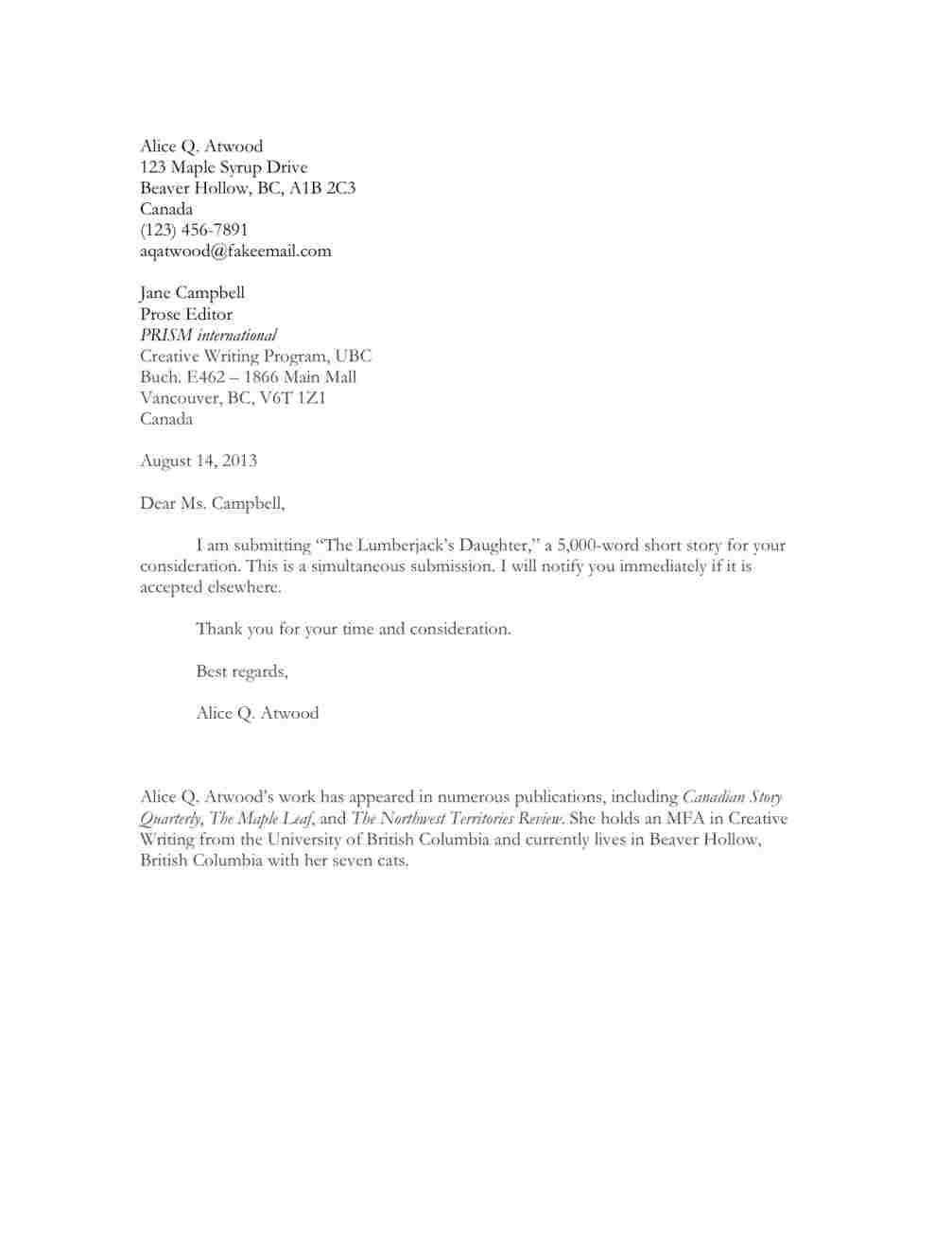 Cover Letter for Submitting Poetry How to Write A Cover Letter for A Poetry Submission