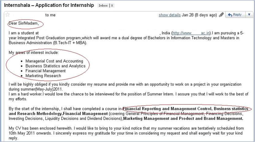 Cover Letter for Summer Internship In Computer Science How Not to Apply for An Internship 3 Internshala Blog
