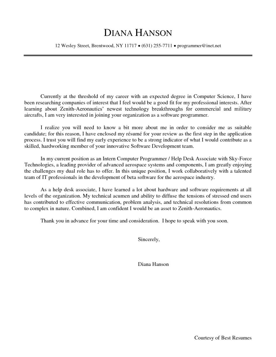 cover letter samples for lecturer post