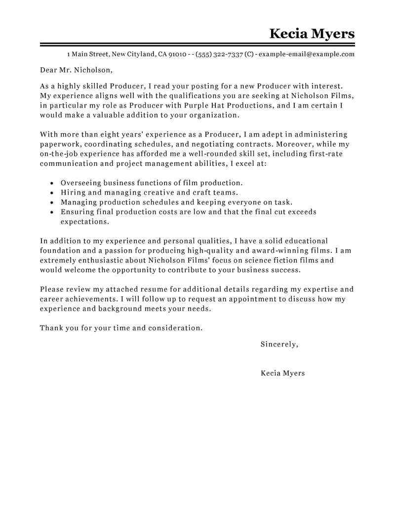 Cover Letter for Writing Contest Contest Winning Cover Letters Letter Simple Example