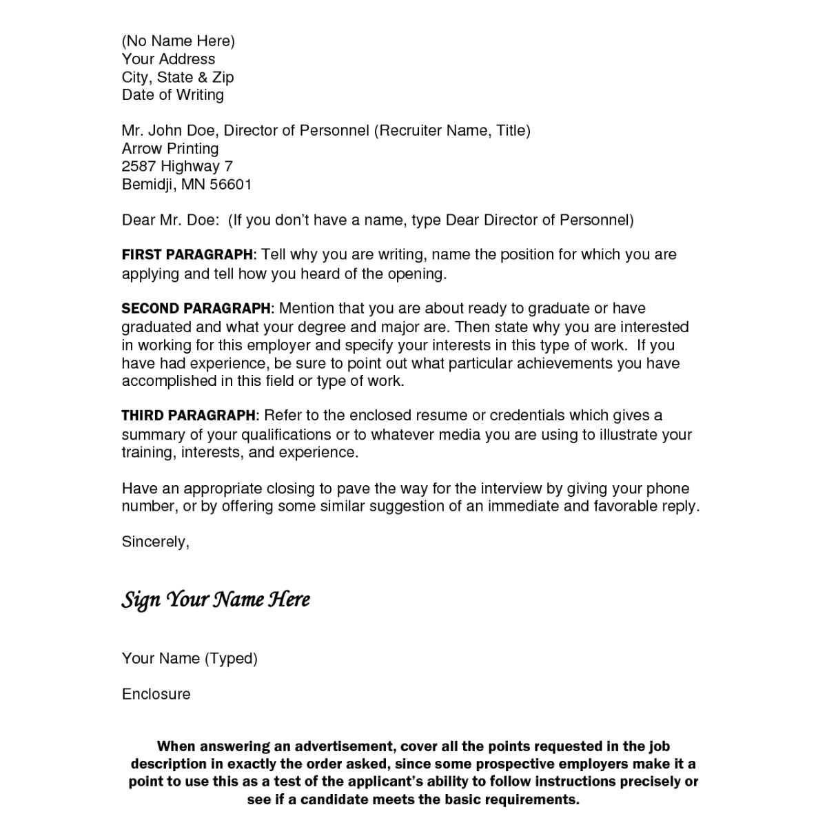 cover letter dont know name