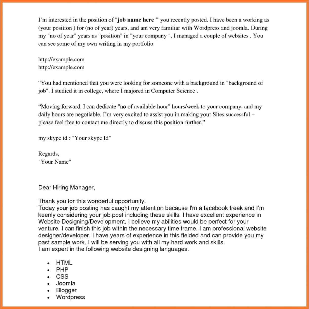 cover letter when you donamp039t know name cover letter if you know the name gallery cover letter sample 4