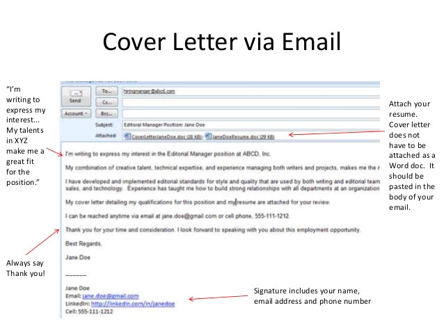 Cover Letter In Body Of Email or attached Teen Resume Workshop Pasadena Public Library