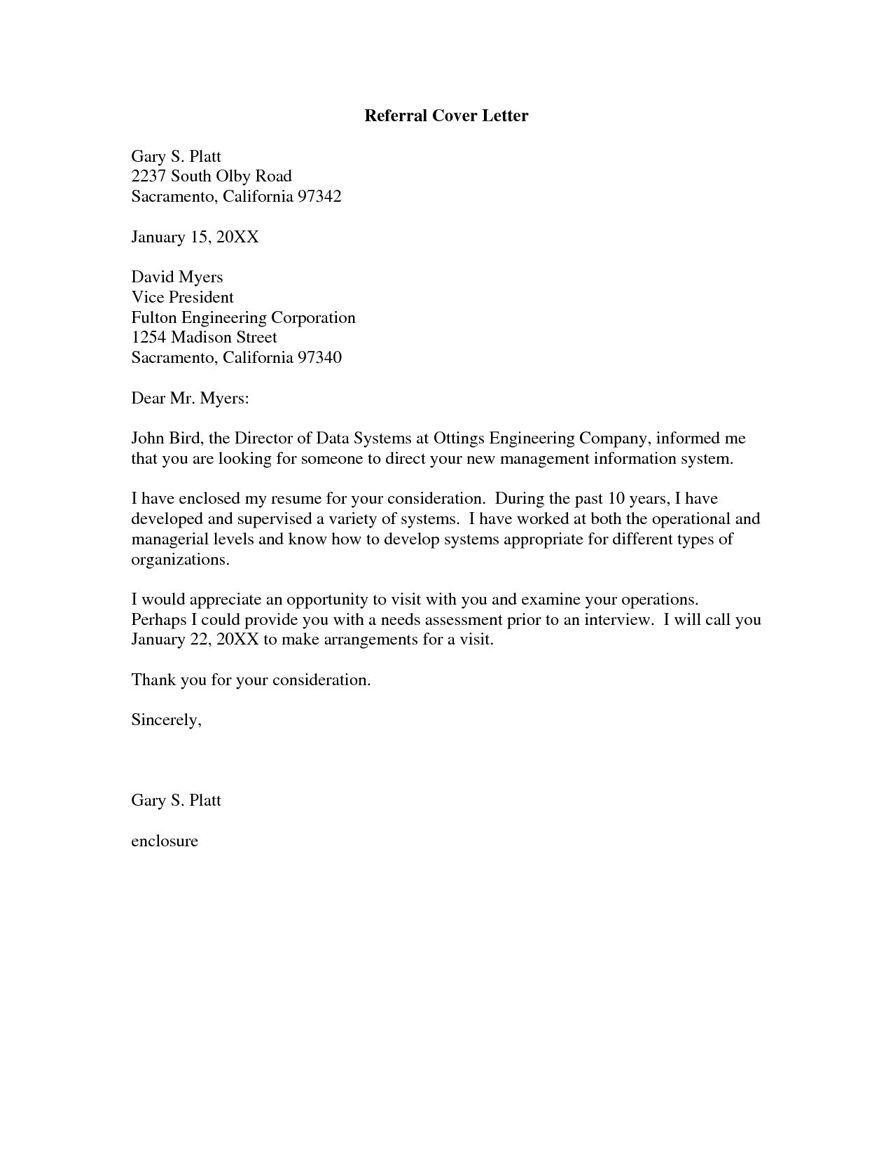 seek cover letter template