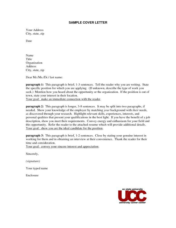 cover letter address format