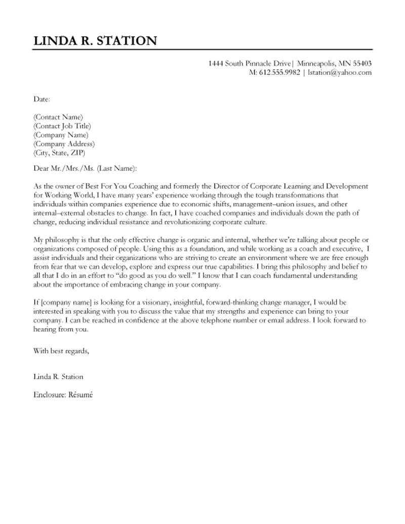 Cover Letter Sampes Cover Letter format Creating An Executive Cover Letter