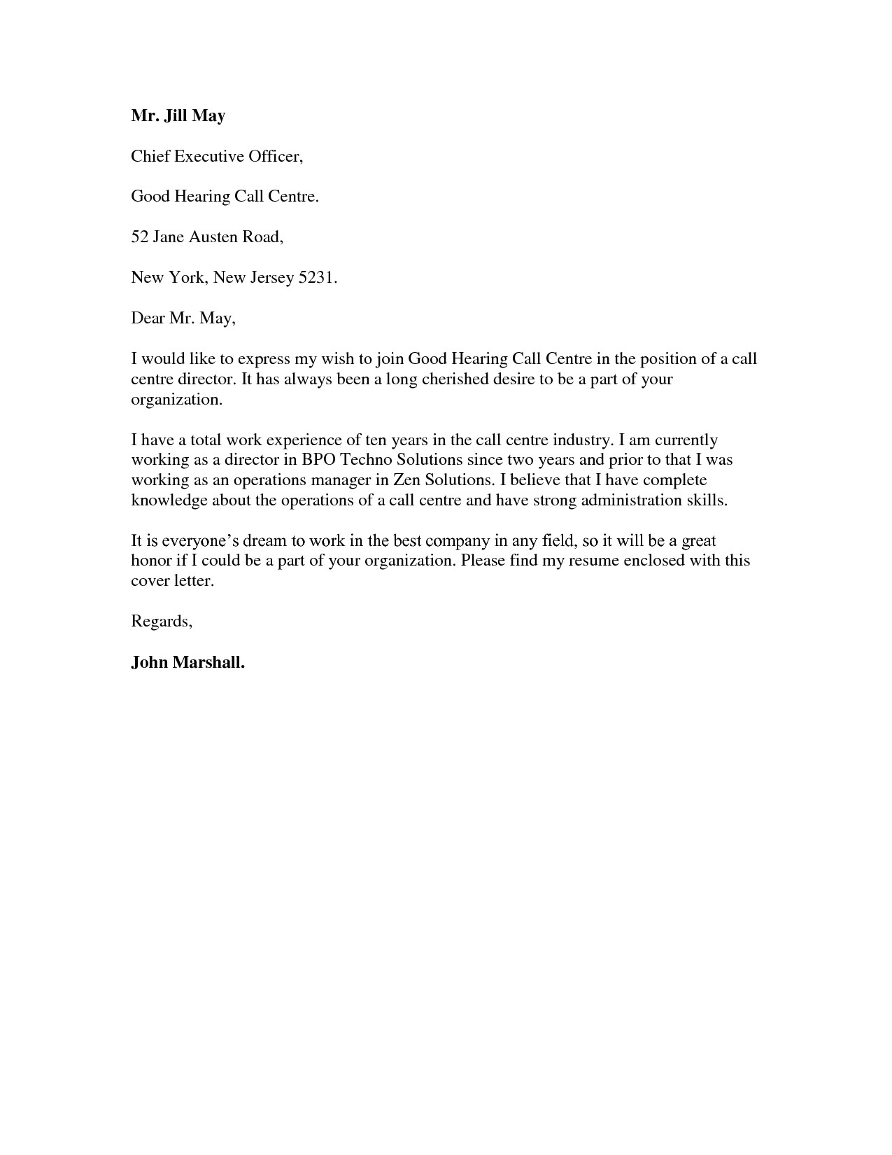 best ideas of job application letter sample for call center agent without about cover letter sample call centre
